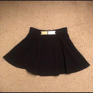 Black forever 21 circle skirt